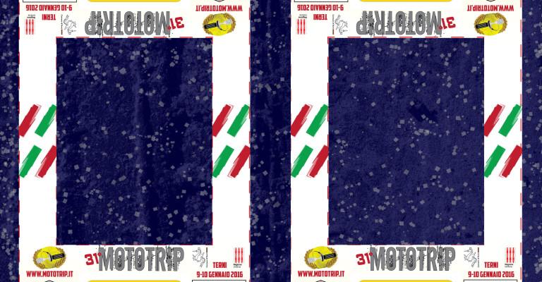 Pettorina Ufficiale del 31° Mototrip - Design Eleonora Irti